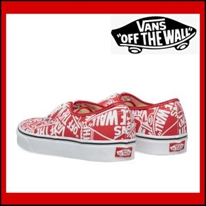 VANS DOHENY OFF THE WALL RED SKATE SHOES Jr Sz 6